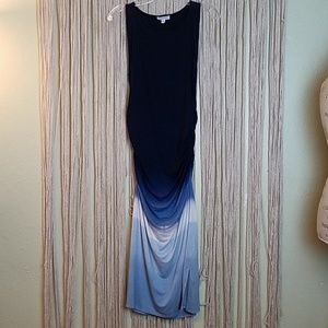 Athleta Blue Ombre Midi Dress Size Medium